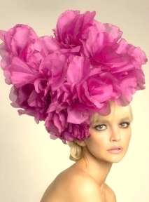 Morgan, Fuchsia Pink Fascinator by Designer Arturo Rios