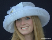 Multi-Rhinestone Upturned Brim Hat for the Kentucky Derby