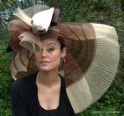 Brown Tone Off-the-face <br> Hat for the Kentucky Derby