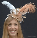 Ostrich Feather Fascinator Hat