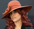 Picture Hat, Silk Bow