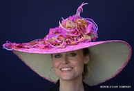 Pink Lace Big Brim Kentucky Derby Dress Hat