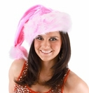 Pink Striped Santa Hat