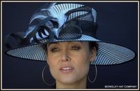 Pinstripe Hat for the Kentucky Derby in Black and White