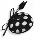 Polka Dot Fascinator Hat<br>Black with White Dots