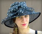 Polkadot Straw Picture Hat