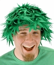 """Pot Head"" Green Felt Wig"
