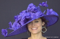 Purple Majesty Hat for the Kentucky Derby