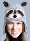 RACCOON HAT,  KNIT