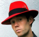 Red Fedora Hat