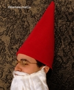 Red Gnome Hat Tall Cone, Fleece
