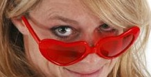 Red Sweetheart Glasses