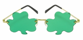 Rimless Green Shamrock Glasses<br> by ELOPE