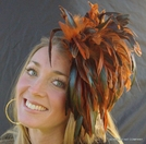 Rooster Feather Fascinator Poof Hat