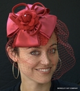 Satin and Wool Fascinator Hat