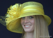 Satin Ruffle Sinamay Kentucky Derby Hat