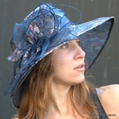 Sequin Organza hat for the Kentucky Derby