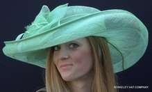 Mint Green Shapeable Sinamay Derby Hat