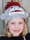 Sock Monkey Beanie, Kids