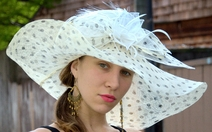 Soft Sinamay Polka Dot Hat