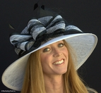 Sophisticated Ladies Derby Hat in Black & White
