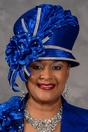 Sophisticated Royal Blue Church Hat<br> Scruples Originals by Eve Andrea