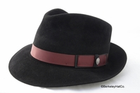 "Stetson ""Lowell"" Fur Felt Fedora in Black"