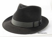 "Stetson ""Lowell"" Fur Felt Fedora in Graphite"