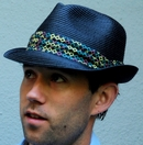 Stingy Fedora Hat, toyo braid