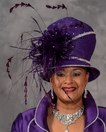 Stunning Purple Church Hat by Eve Andrea