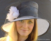 Sunburst Black and White Hat for the Kentucky Derby
