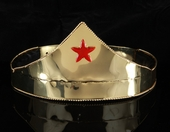 Super Hero Gold Crown<br> and Cuffs with Red Star