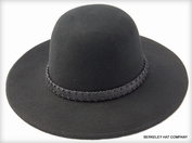 Tall Crown Wool Felt Hat in Black