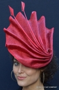 The Quintessential Red Fascinator