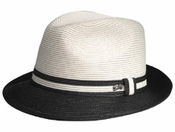 TWO TONE SOFT STRAW HAT