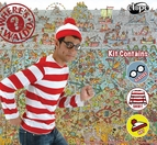 Where's Waldo Hat, Shirt and Costume Glasses