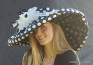 Large Brim Polkadot Derby Hat