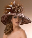 Wide Brim Silk Derby Hat