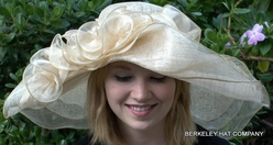 Wide Brim Sinamay<br> off-the-face  <BR>Hat for the Kentucky Derby