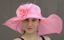 Wide Brim Straw Derby Hat