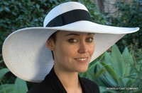 Wide Brim Straw Picture Hat, White