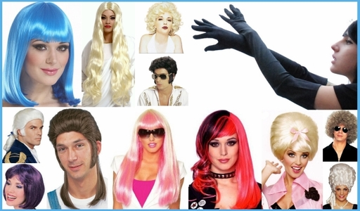 WIGS, GLOVES and MASKS