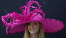 Winner's Circle Derby Hat in Fuchsia