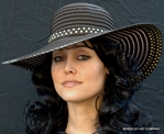 Woman's Polkadot Ribbon Hat