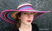 Women's Bright Stripe Sun Hat