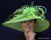 Women's Derby Hat, Feather Extravaganza