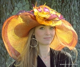 Dynamic MultiColored Kentucky Derby Hat Orange