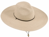 Women's Large Brim Fedora Hat<br> with chincord