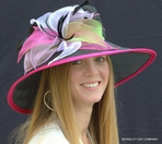 Women's Organza Kentucky Derby Hat With Multicolored Petals