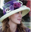 Women's Sinamay Flower Hat